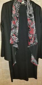 Women's Essentials by ABS Black Dress with Blazer